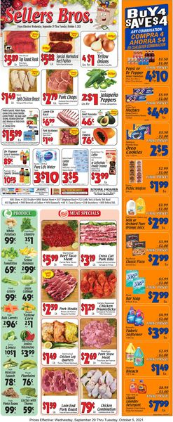 Catalogue Sellers Bros. from 09/29/2021