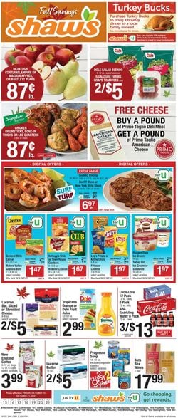 Current weekly ad Shaw's