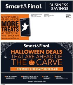 Catalogue Smart and Final Halloween 2021 from 10/06/2021