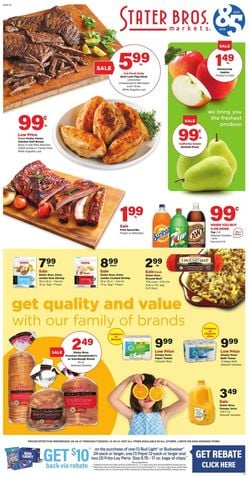 Catalogue Stater Bros. from 09/29/2021