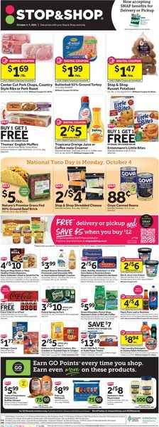 Catalogue Stop and Shop from 10/01/2021