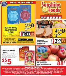 Catalogue Sunshine Foods from 09/29/2021