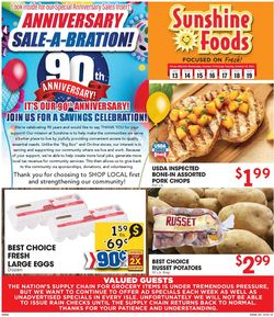 Catalogue Sunshine Foods from 10/13/2021