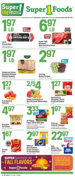 Catalogue Super 1 Foods from 09/22/2021