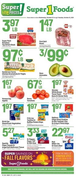 Catalogue Super 1 Foods from 10/06/2021