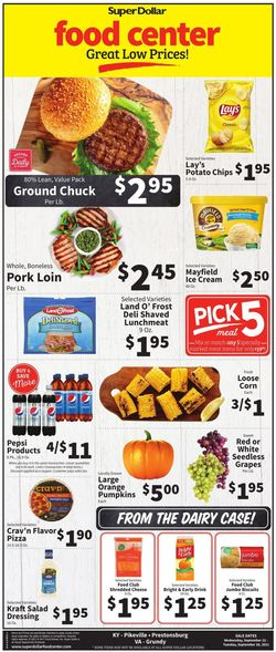 Catalogue Super Dollar Food Center from 09/22/2021