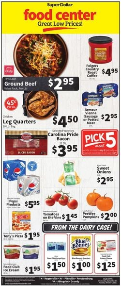 Catalogue Super Dollar Food Center from 09/29/2021