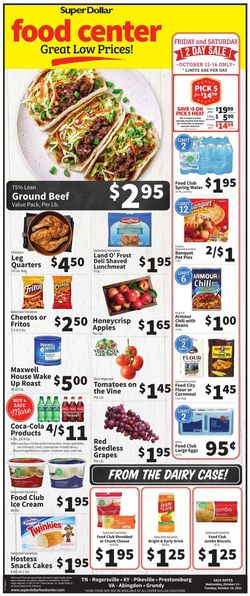 Current weekly ad Super Dollar Food Center