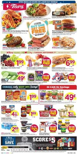Catalogue Tops Friendly Markets from 09/05/2021