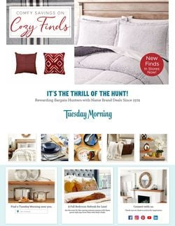 Catalogue Tuesday Morning from 09/30/2021