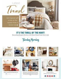 Catalogue Tuesday Morning from 10/21/2021