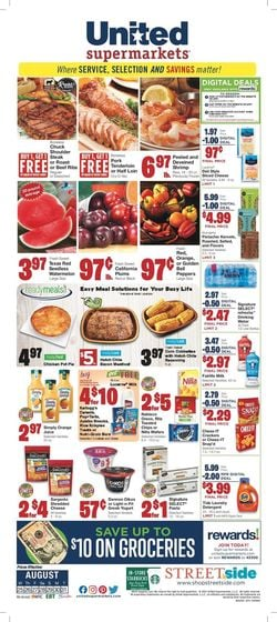 Catalogue United Supermarkets from 08/25/2021
