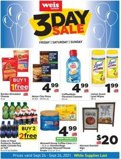 Catalogue Weis from 09/24/2021