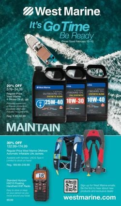 Current weekly ad West Marine